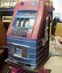 1940s Mills High Top Jewel Bell 5 cent Antique Slot Machine