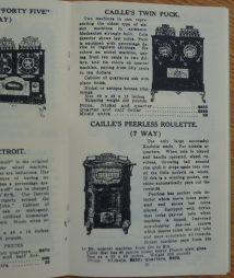Caille Brothers Mfg. Slots, Arcade, and Trade Stimulator Catalog