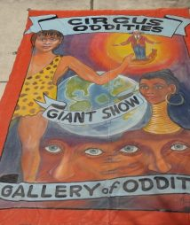 Ringling Bros. Performers Sideshow Freaks Human Oddity Circus Banner