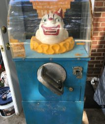 Tungo Clown Strength Tester Vintage Arcade