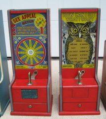 Exhibit Supply Mfg The Wise Owl Countertop Tester Machine c 1940's