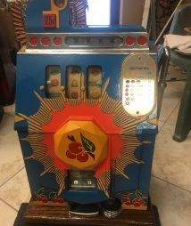 Mills 25 cent Restored Antique Bursting Cherry Slot Machine