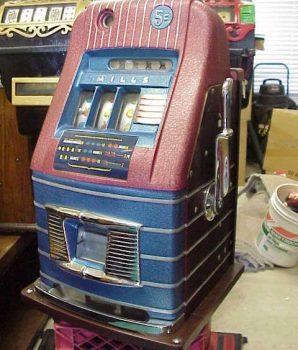 1940s Mills High Top Jewel Bell 5 cent Antique Slot Machine