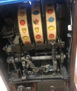 Mills 25 cent Restored Antique Bursting Cherry Slot Machine
