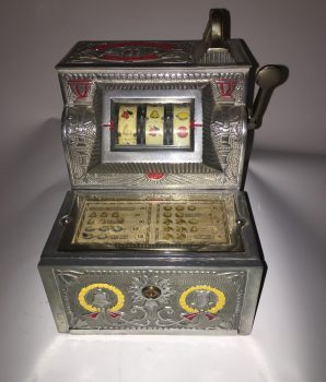 5¢ Mills Puritan Bell Trade Stimulator Slot Machine