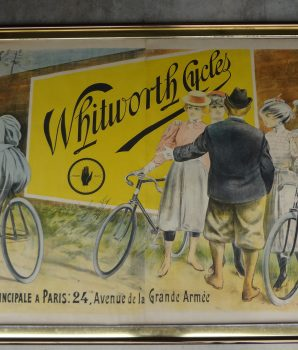 Vintage Bicycle Ad Whitworth Cycle Lithograph Poster