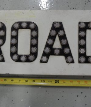 Vintage Porcelain Railroad Crossbuck ROAD Sign