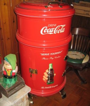 Coca Cola Round Ice Soda Box Cooler Professionally Restored White Frost Mfg.