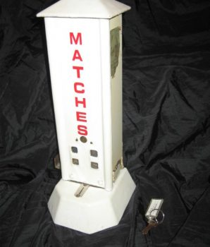 Northwestern Corp Porcelain Match Dispenser 1 cent circa 1920s