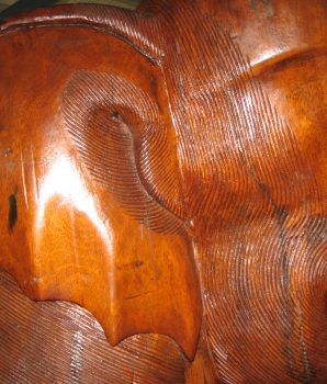 Jumbo Wood Elephant Hand Carved on Platform