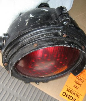 Red Single Railroad Crossing Signal Light
