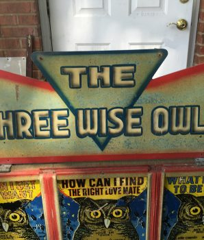 "Exhibit Supply Co. Triple Amusement Games ""The Three Wise Owls"""