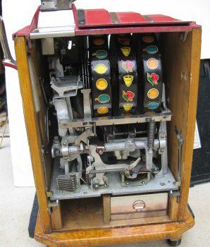 Dollar Deluxe Cherry Bell Golden Star Slot machine 1940's