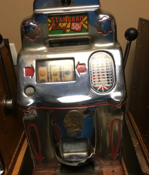 ANTIQUE  JENNINGS 50 cent  CLUB CHIEF SLOT MACHINE