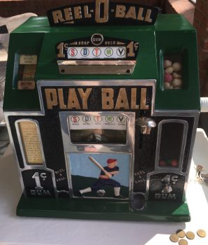 1930's Reel-O-Ball Play Ball Baseball Slot Machine