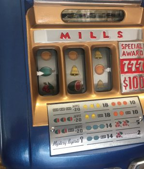 Mills 777 Special Award Card 50¢ Slot Machine – 1948