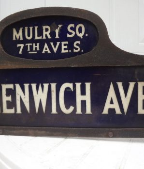 Greenwich Ave & Mulry Sq New York City Street Sign